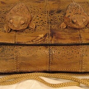 Toad Shoulder Bag on String with 2 Toad Heads
