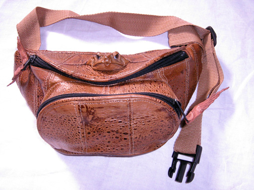 Cane Toad Bumbag - Round Type with Toad Head
