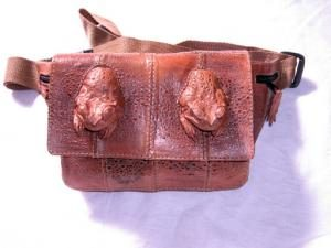 Cane Toad Bumbag with 2 Toad Heads